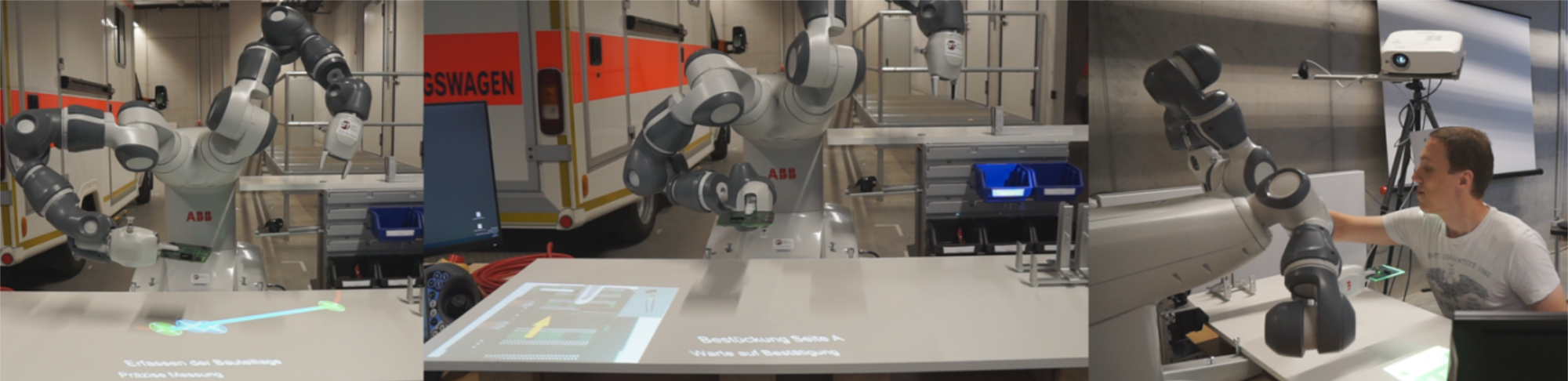 Spatial Augmented Reality und kollaborative Robotik